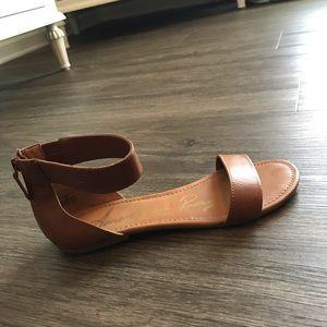 American Rag Ankle Strap Sandals Tan